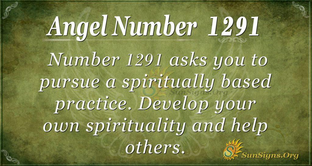angel number 1291