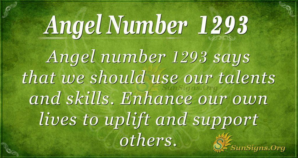 angel number 1293