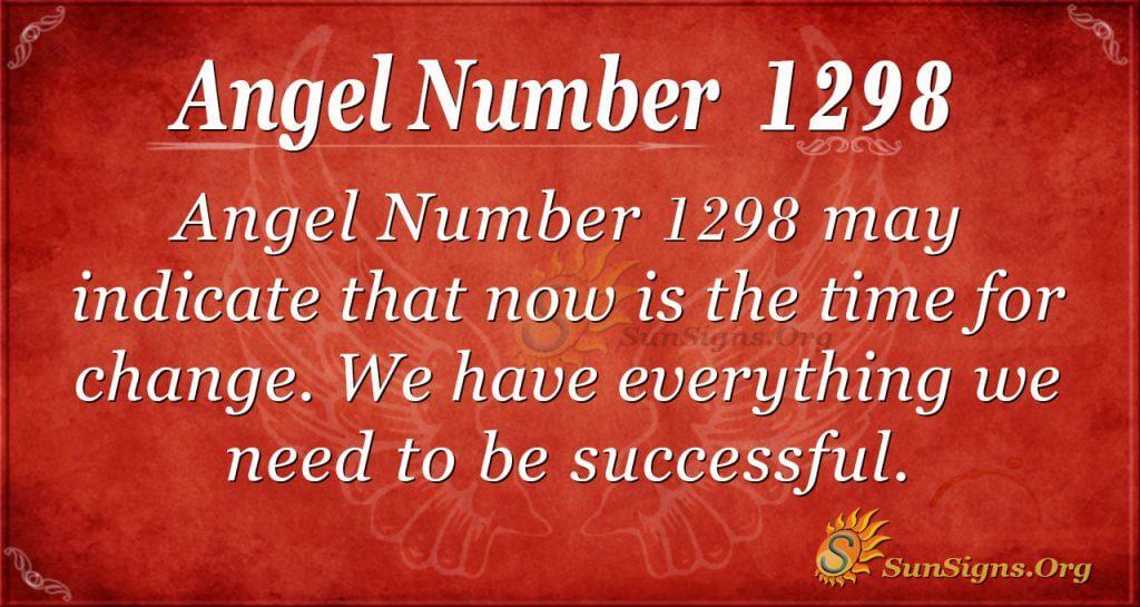 angel number 1298
