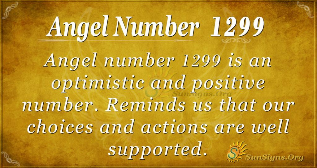 angel number 1299