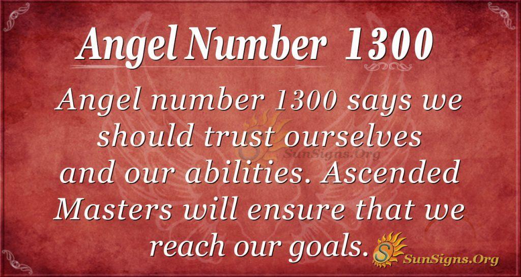 angel number 1300