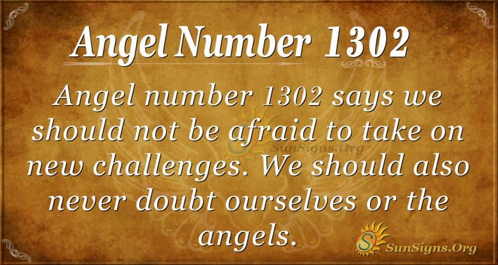 Angel number 1302