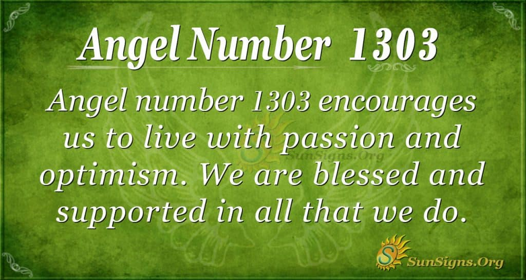 Angel number 1303
