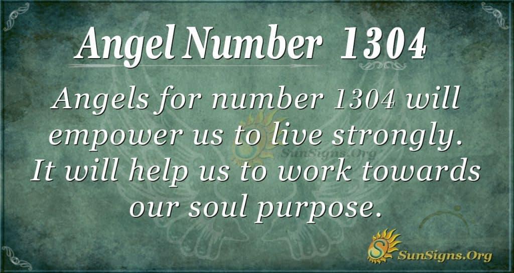 angel number 1304