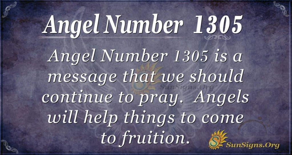 Angel number 1305