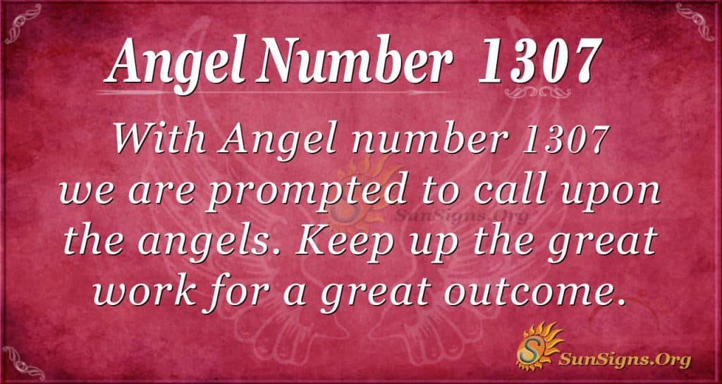 Angel number 1307