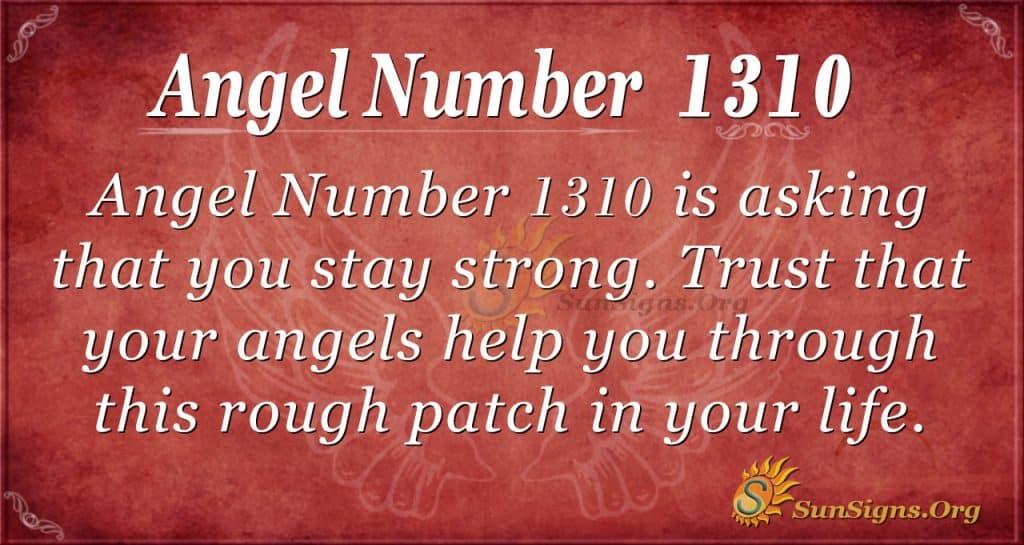 Angel number 1310