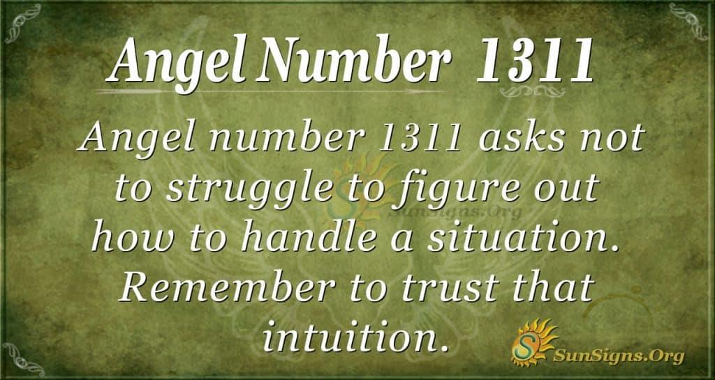 Angel Number 1311
