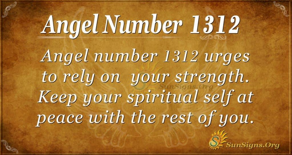 Angel Number 1312