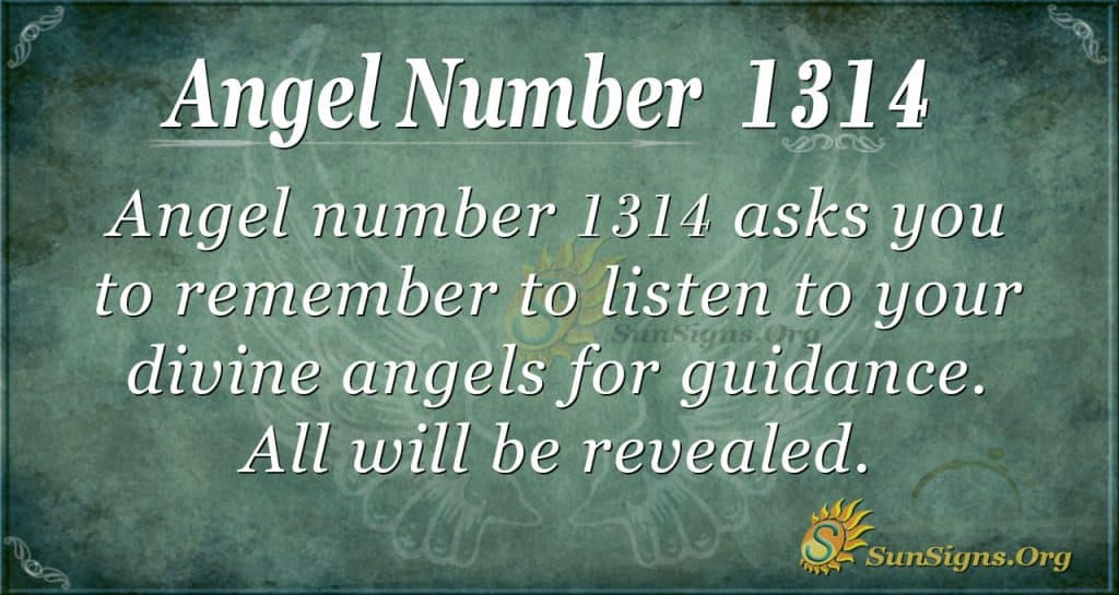 Angel Number 1314