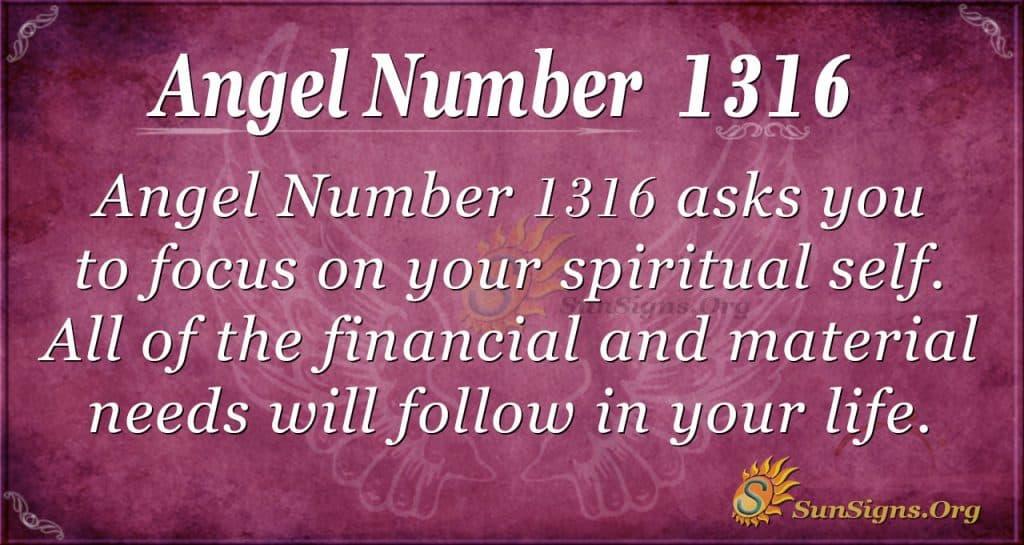 Angel Number 1316