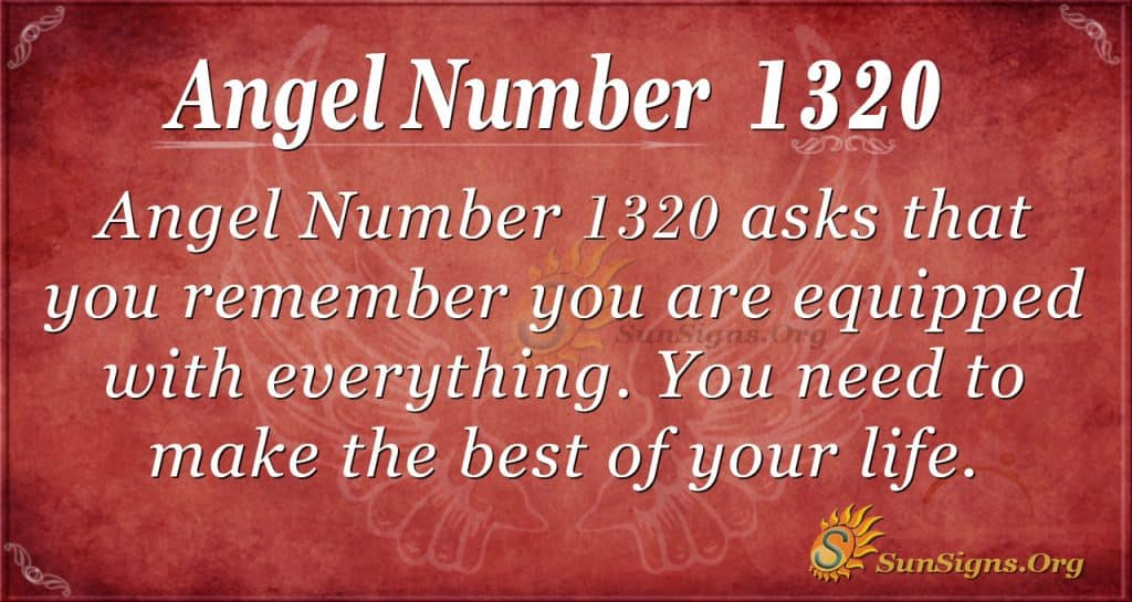 Angel Number 1320
