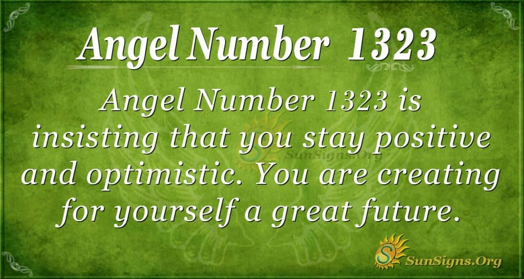 Angel Number 1323