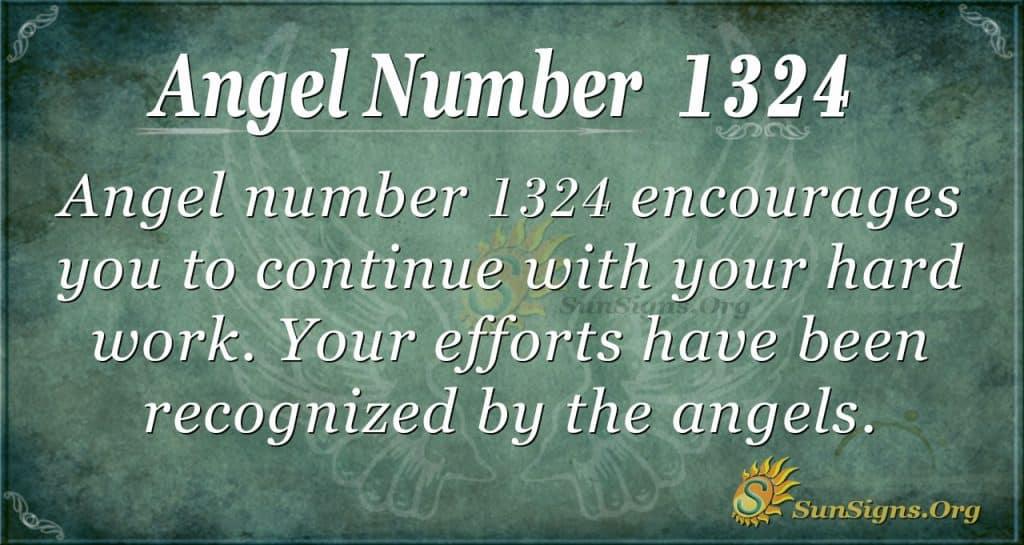 Angel Number 1324