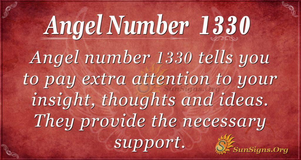 Angel Number 1330