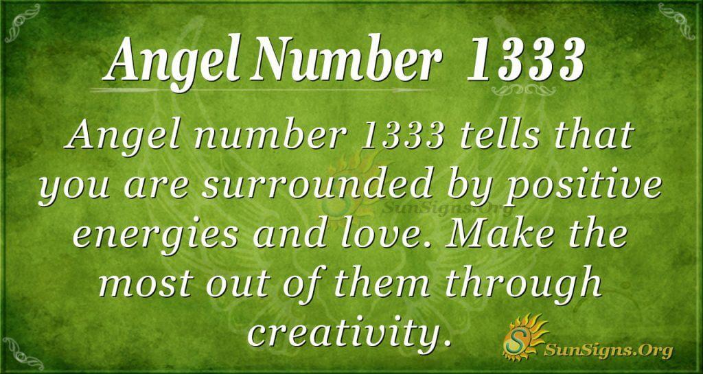 Angel Number 1333