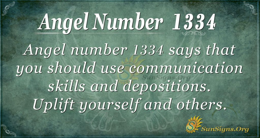 Angel Number 1334 Meaning