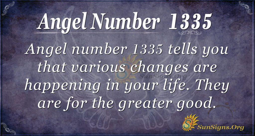 Angel Number 1335