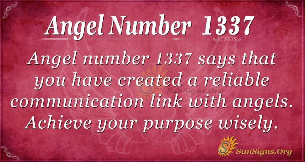 Angel Number 1337