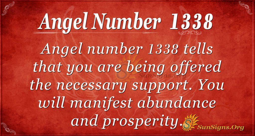 Angel Number 1338