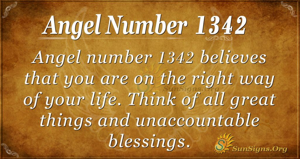 Angel Number 1342