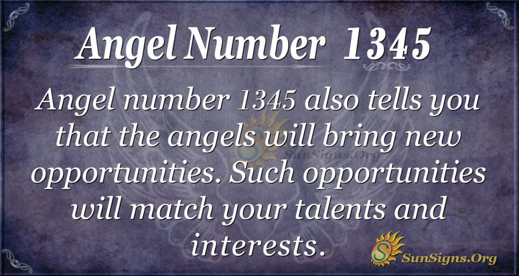 Angel Number 1345