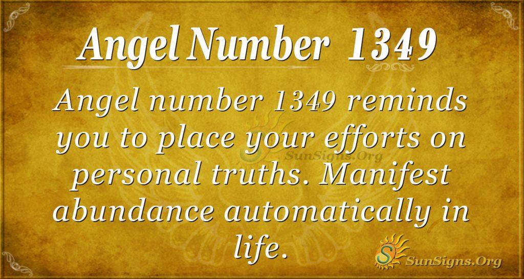 Angel Number 1349