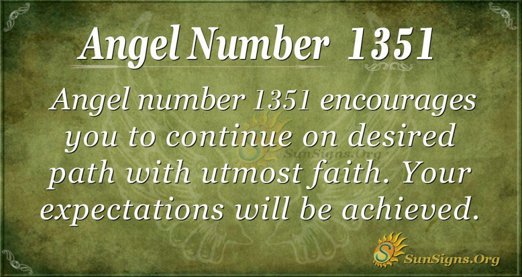 Angel Number 1351