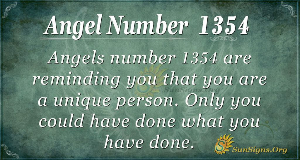 Angel Number 1354