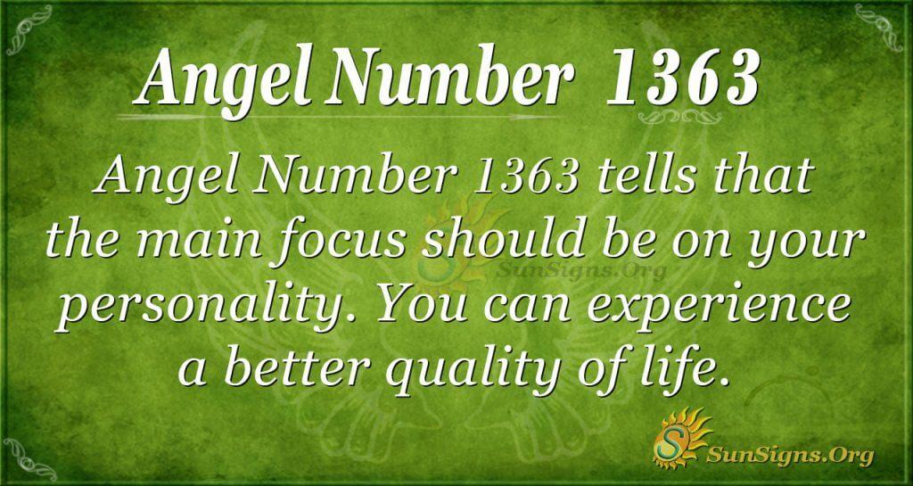 Angel Number 1363