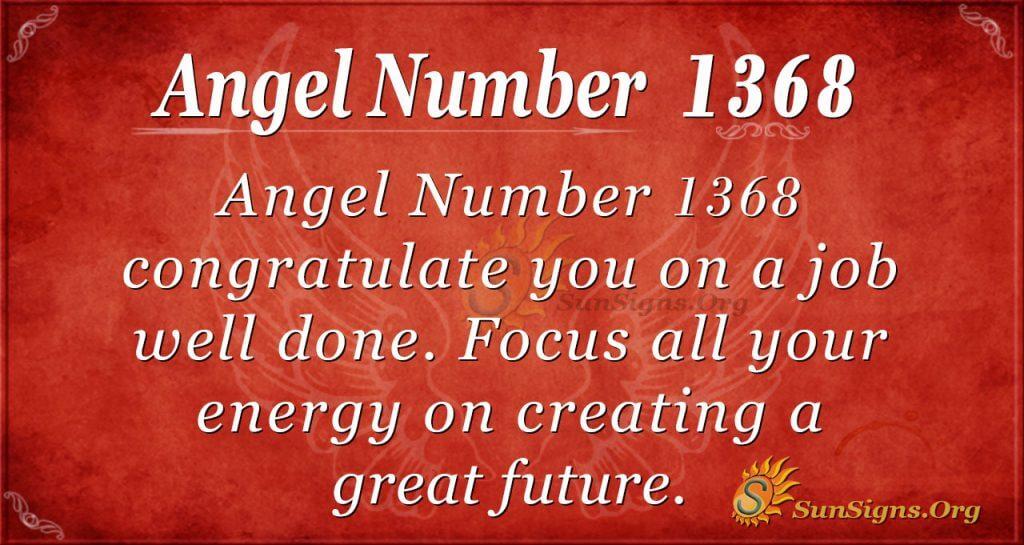 Angel Number 1368