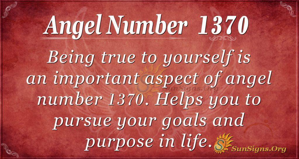 Angel Number 1370
