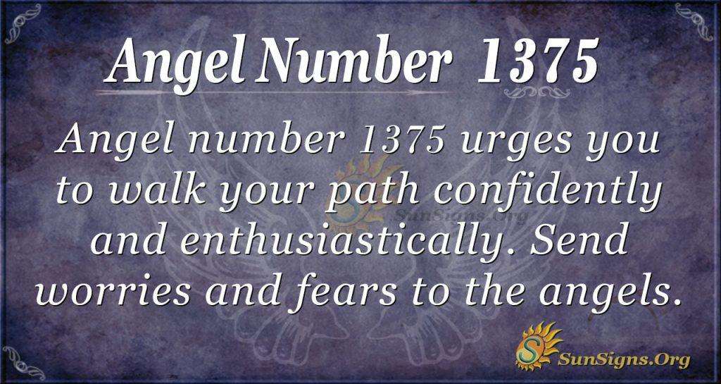 Angel Number 1375