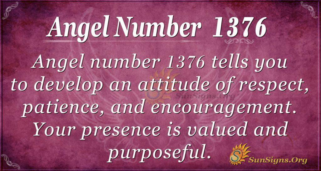 Angel Number 1376