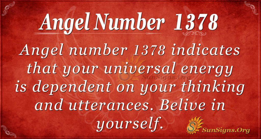 Angel Number 1378