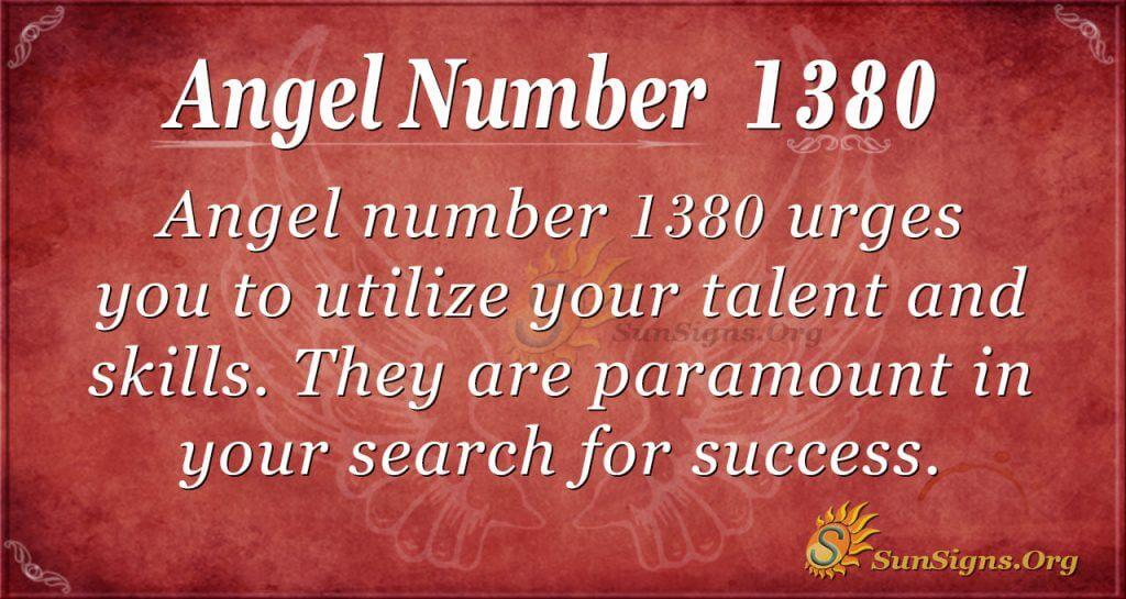 Angel Number 1380