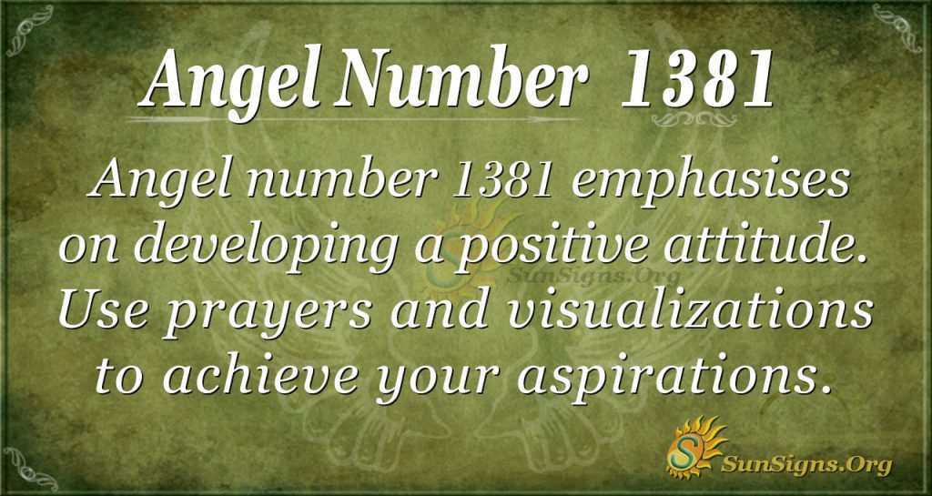 Angel Number 1381