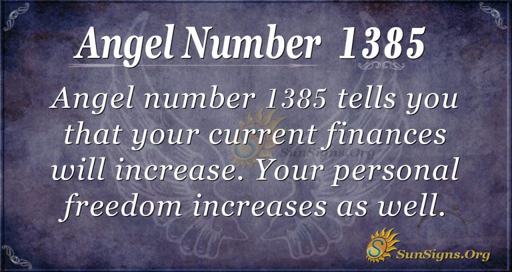 Angel Number 1385