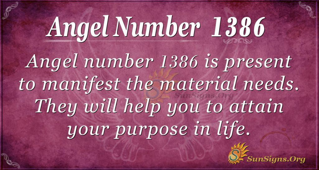 Angel Number 1386