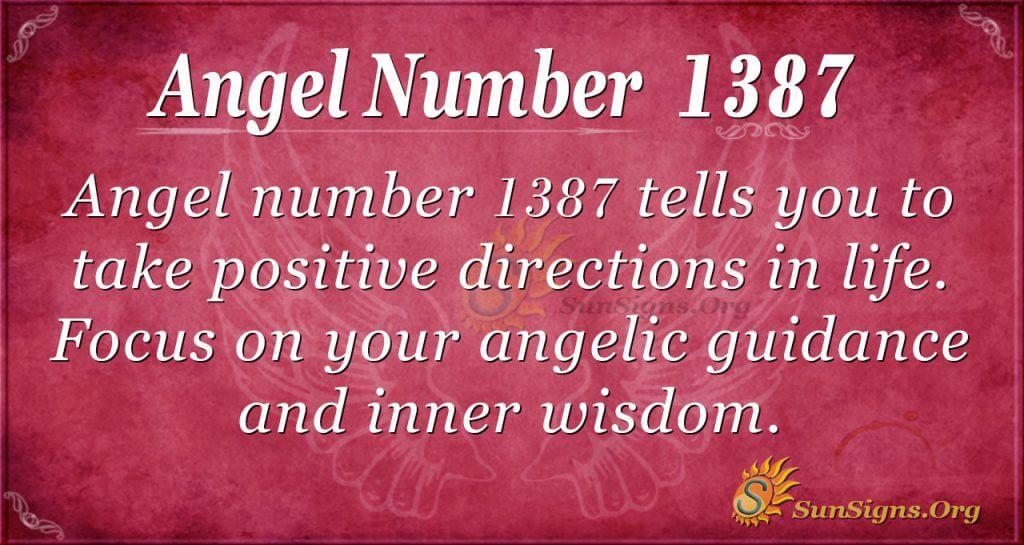 Angel Number 1387