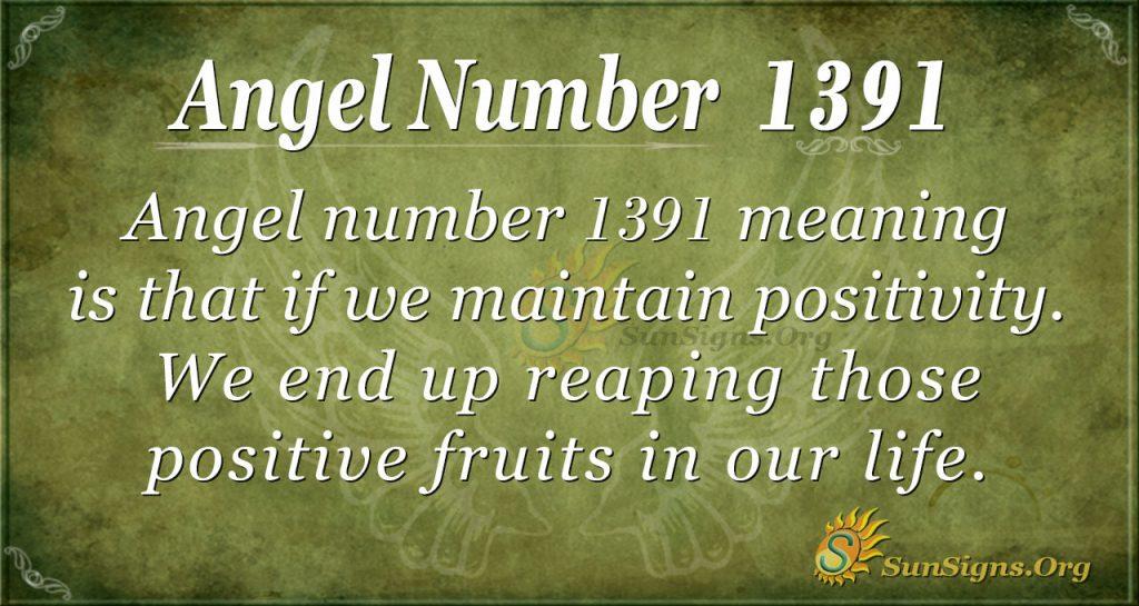 Angel Number 1391