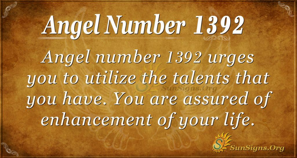 Angel Number 1392