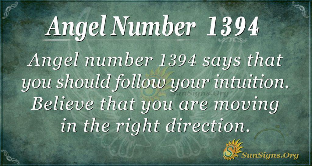 Angel Number 1394