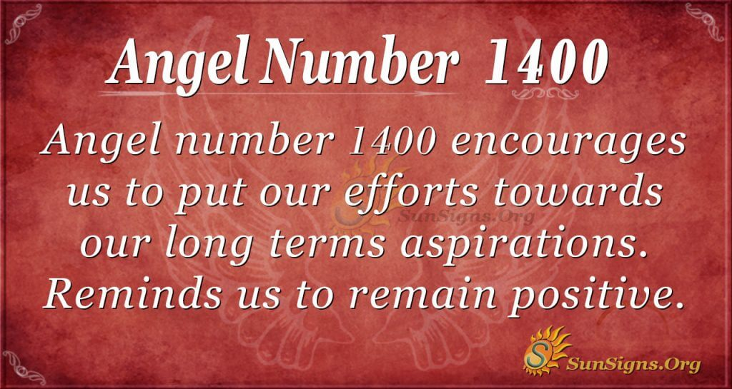 Angel Number 1400
