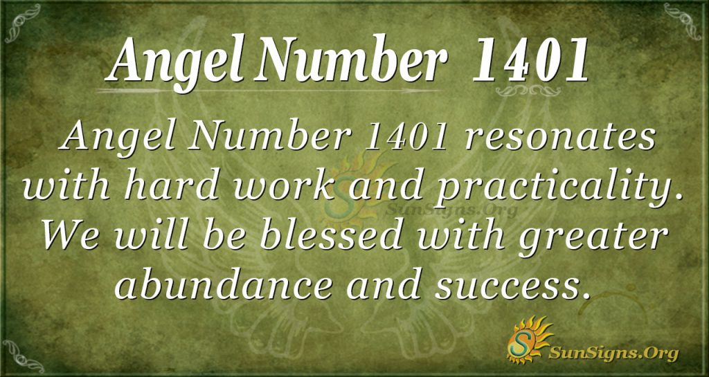 Angel Number 1401