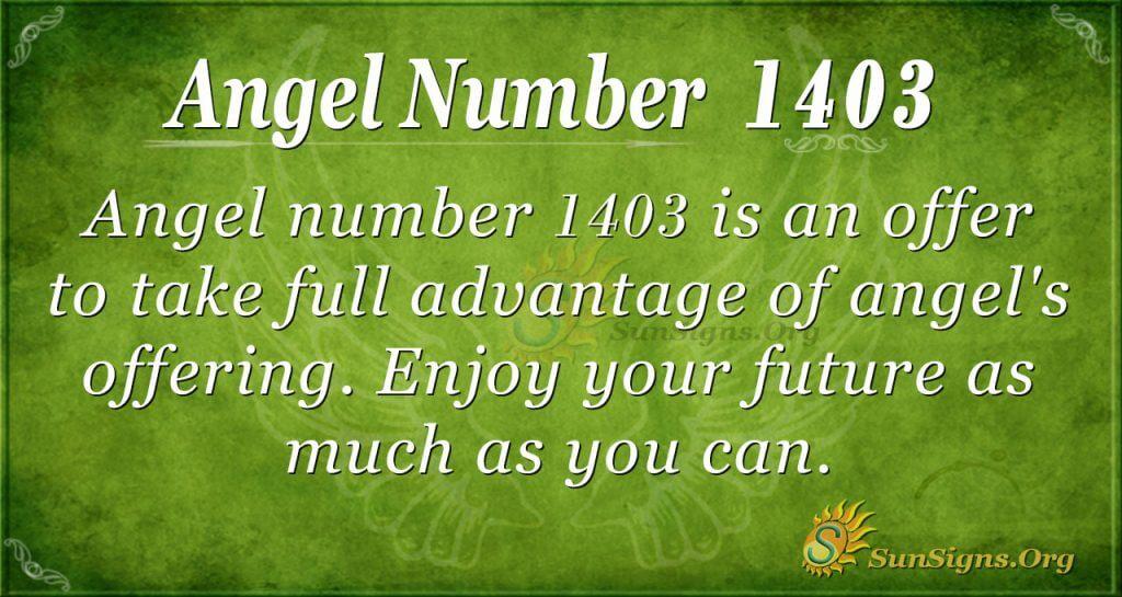Angel Number 1403