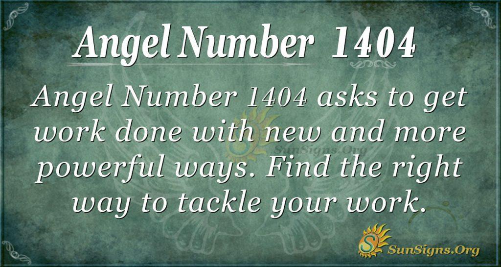 Angel number 1404