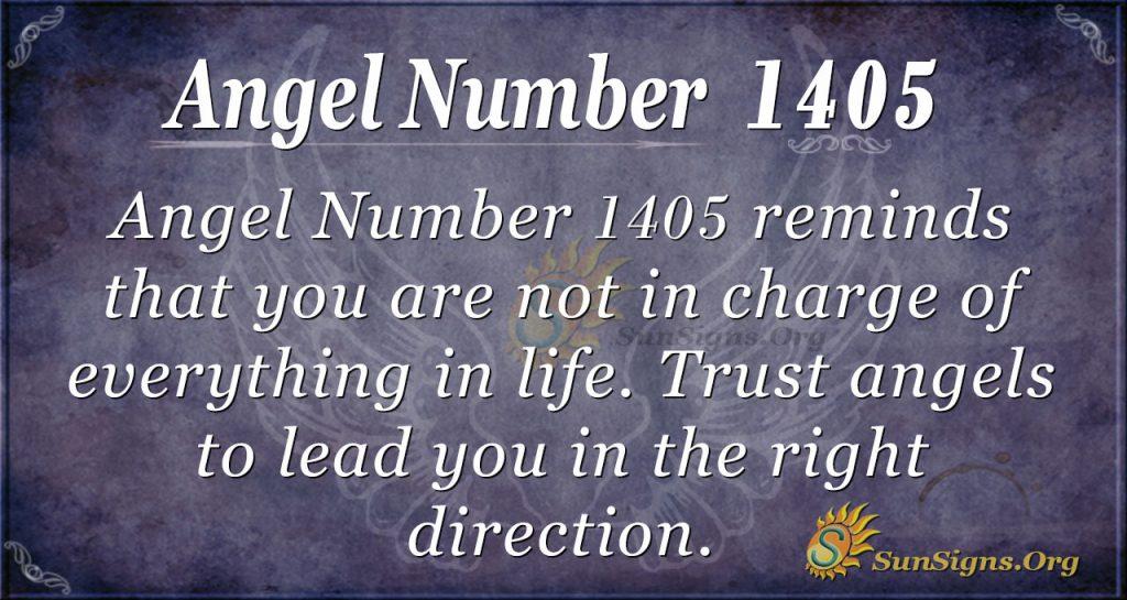 Angel Number 1405