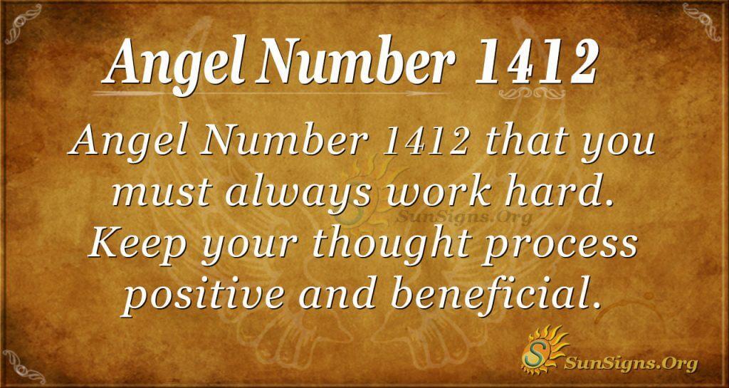 Angel Number 1412