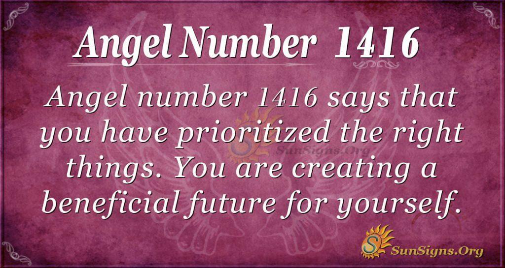 Angel number 1416